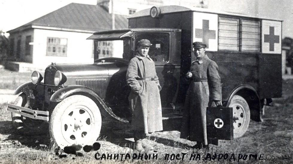 санитарная машина завода «Гудок Октября»