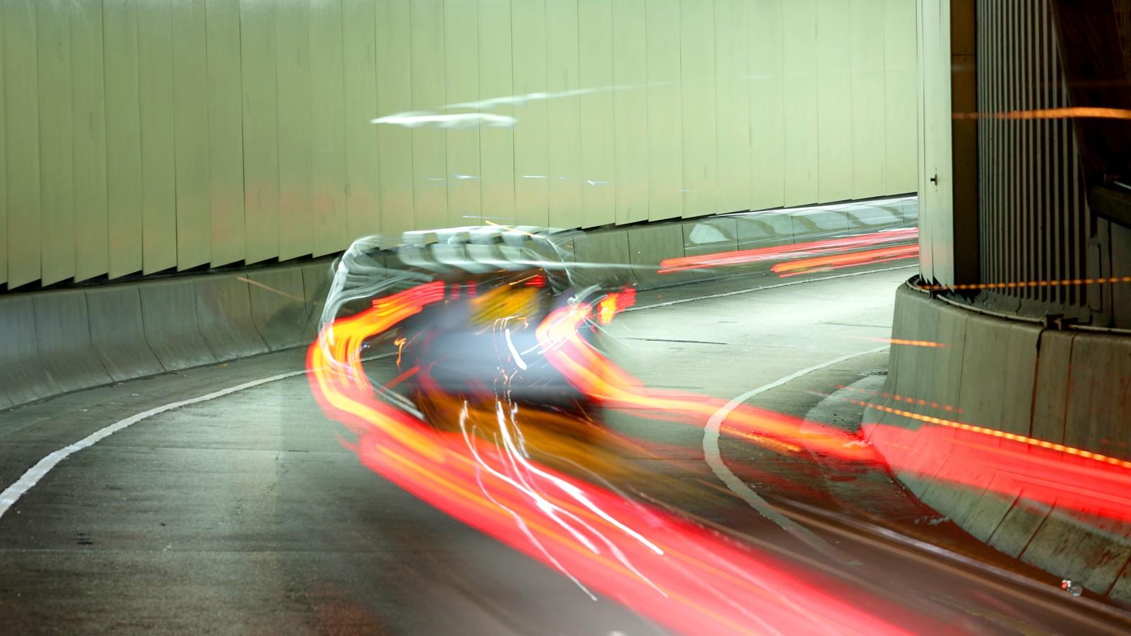 street racing car blurred background