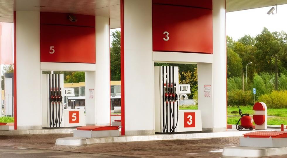 Empty petrol station