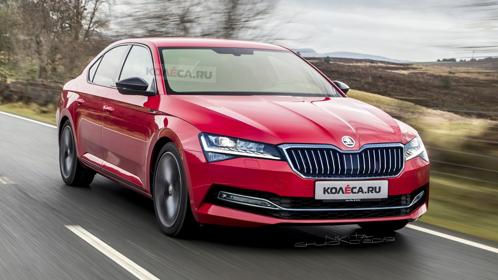 Skoda Superb new front2