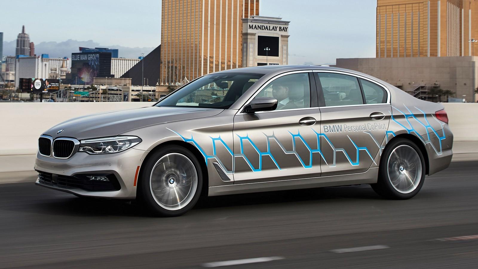 Прототип беспилотного BMW на базе седана пятой серии