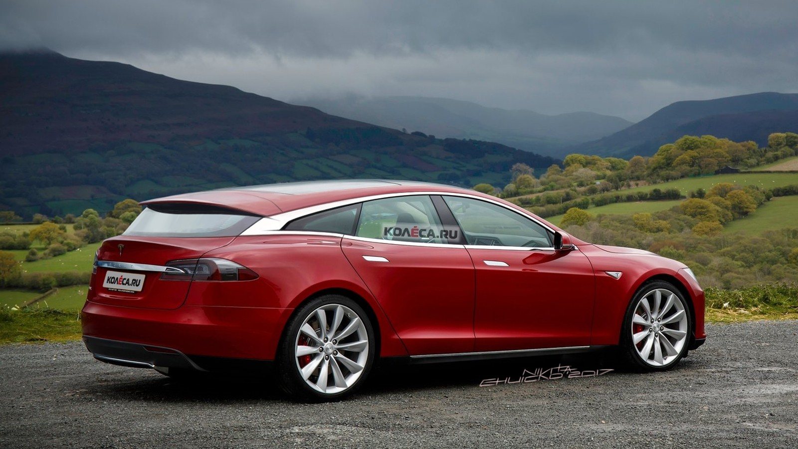 Tesla Shooting Break rear1