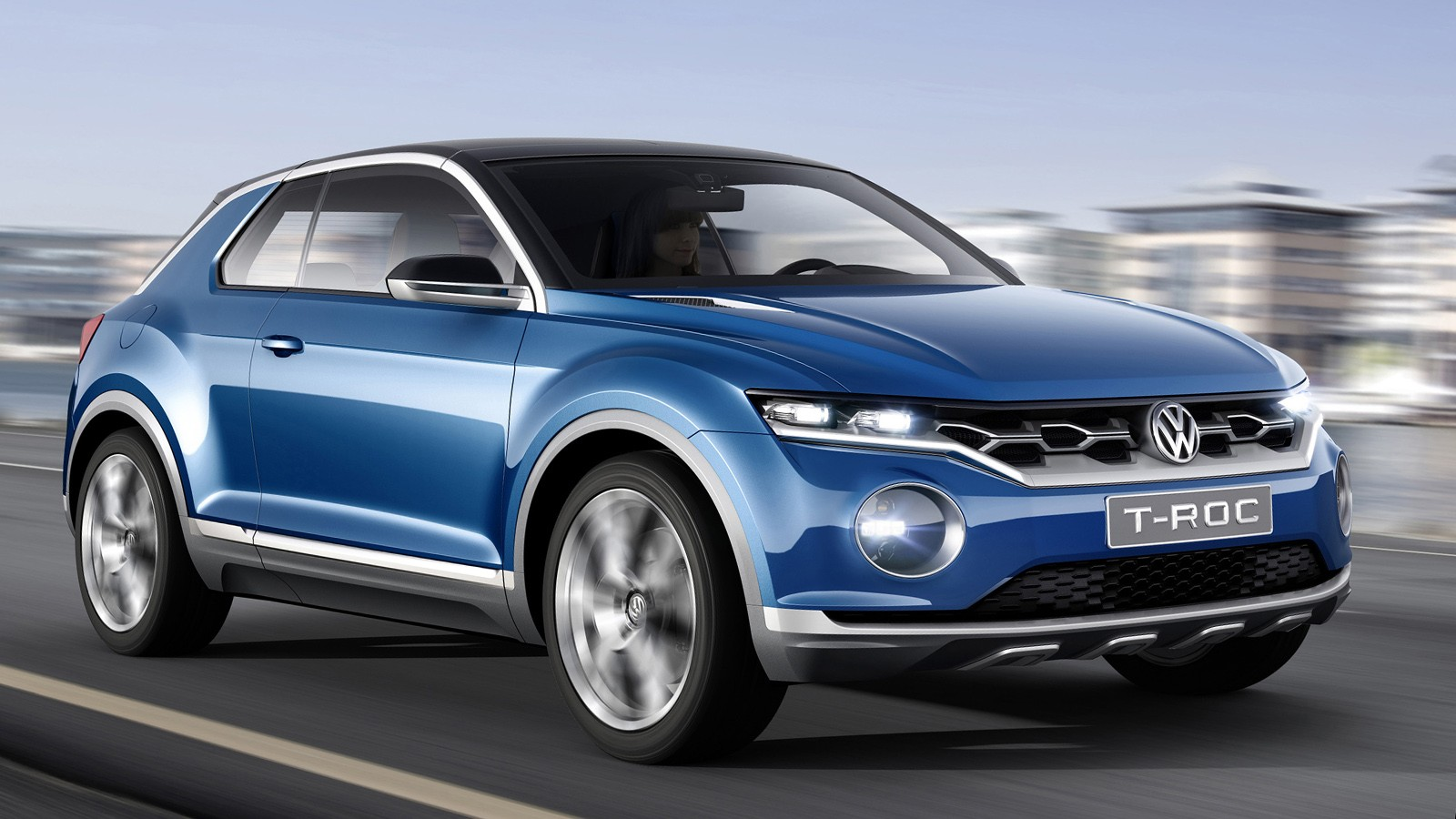 На фото: концепт VW T-Roc 2014 года. Не исключено, что серийная версия будет ближе к другому прототипу — T-Cross Breeze