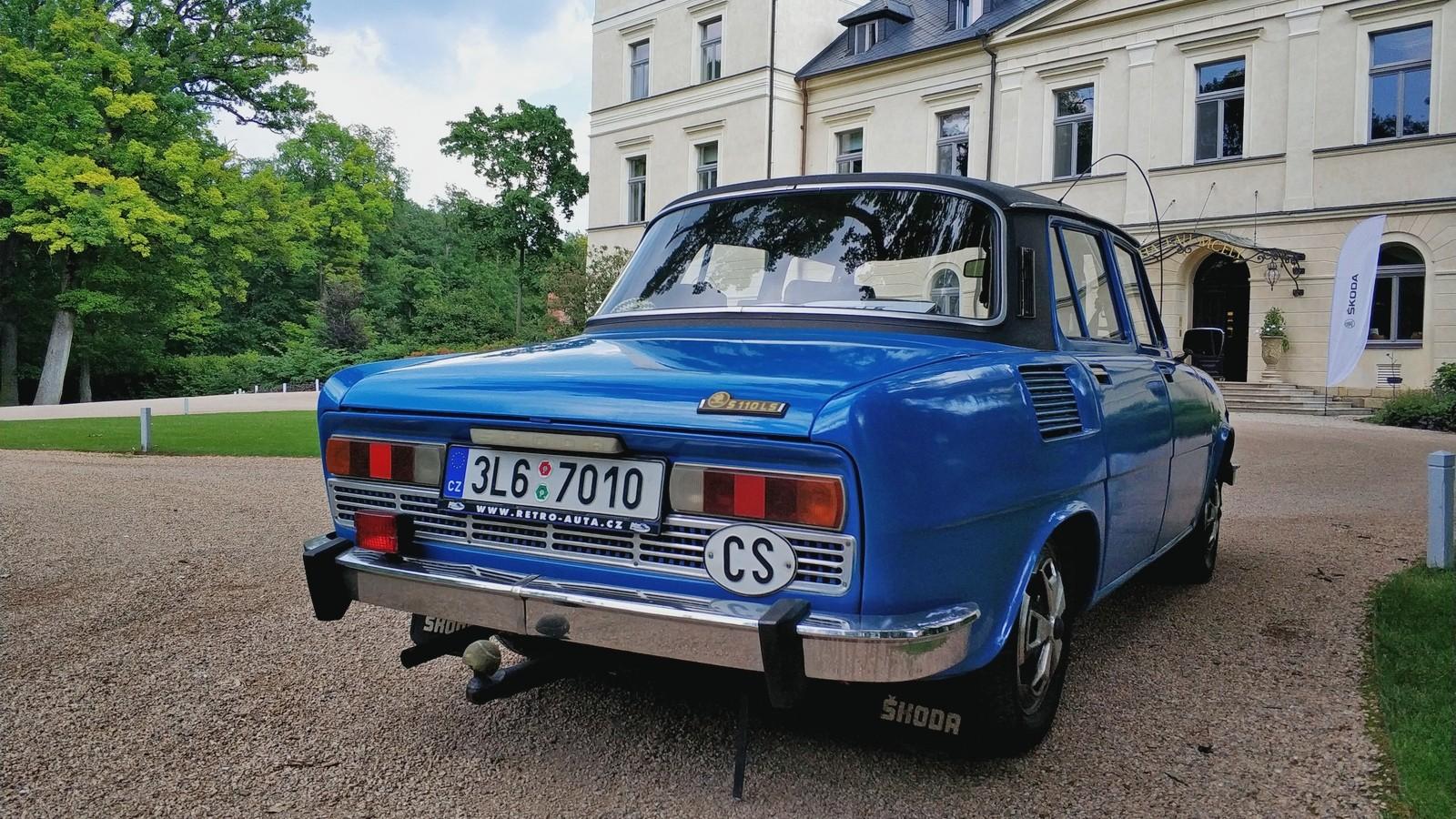 Skoda110 голубой сзади