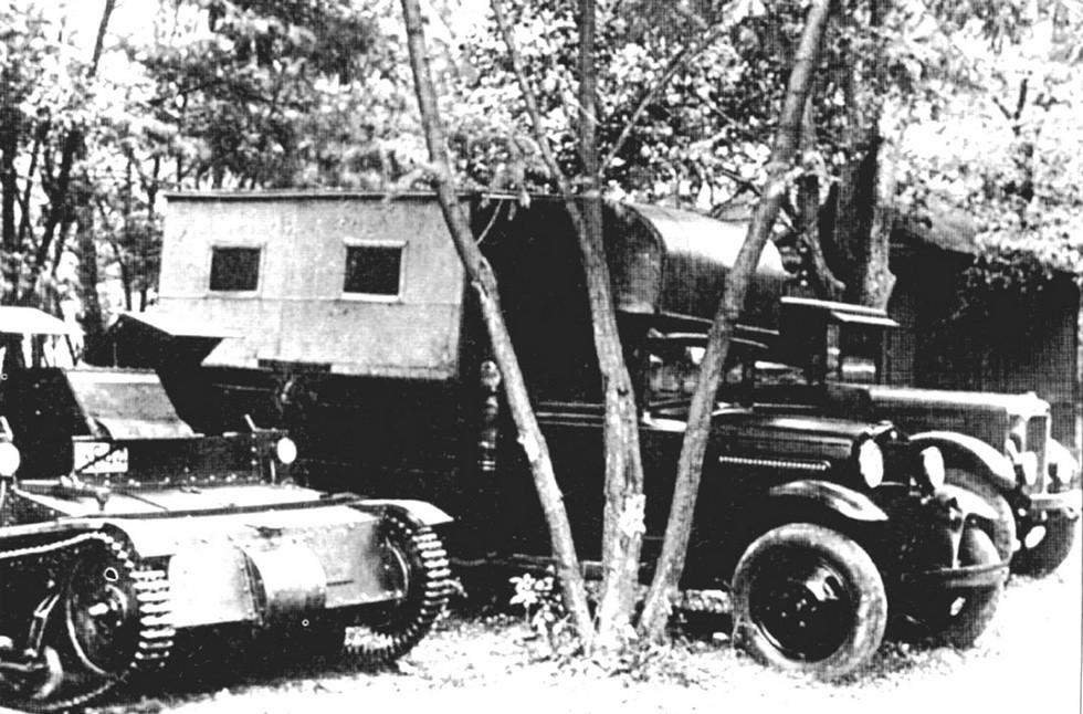 мастерская-летучка ПМ-3 на автомобиле Ford-AA