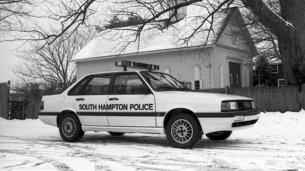 1985 audi 4000s полицейский автомобиль