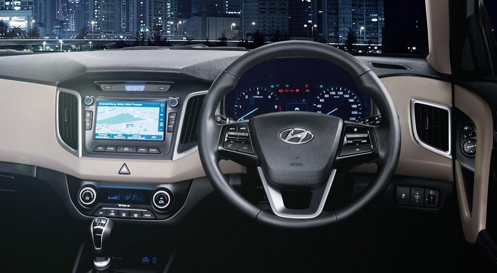 На фото: интерьер индийского Hyundai Creta