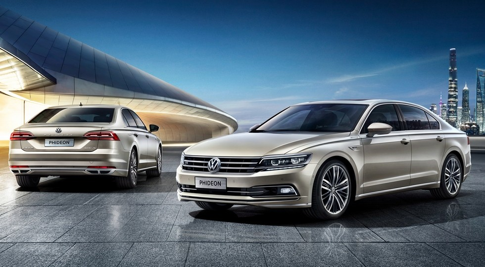 На фото: стандартный Volkswagen Phideon