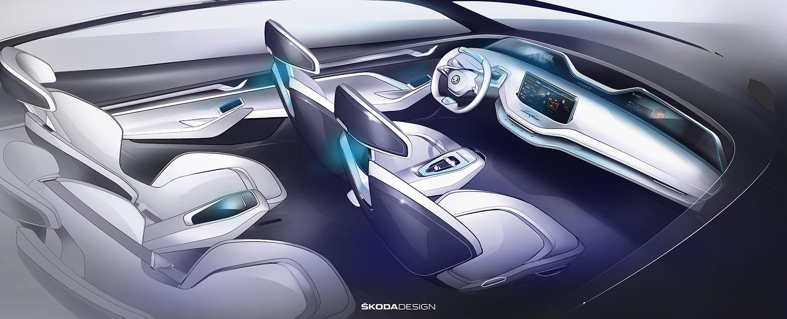 У Skoda Vision E нет центральной стойки