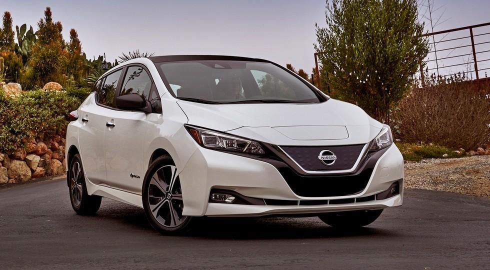 На фото: Nissan Leaf нового поколения, версия для США