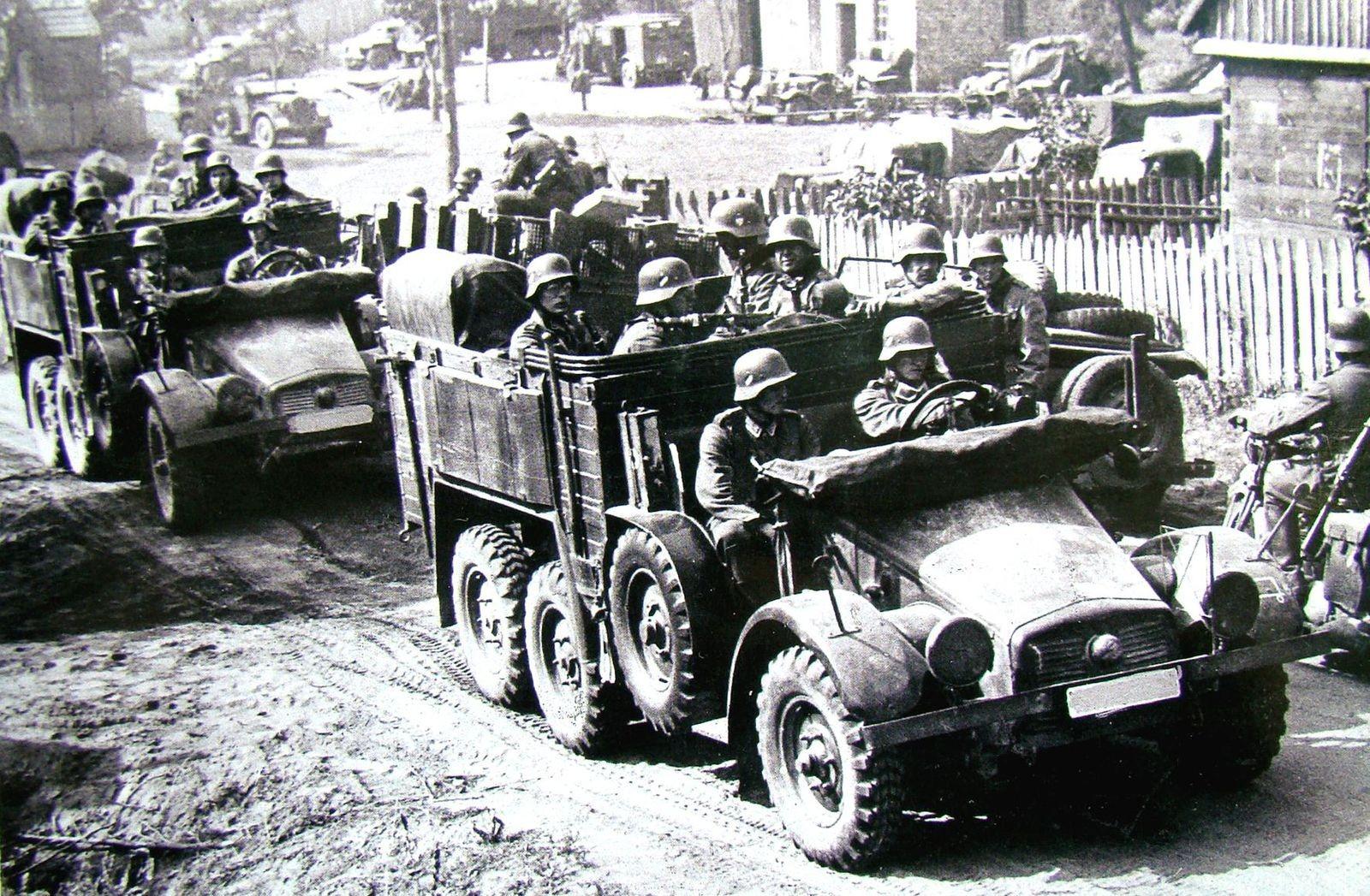 Для захвата СССР и не только: немецкие военные внедорожники 4х4 и 6х6