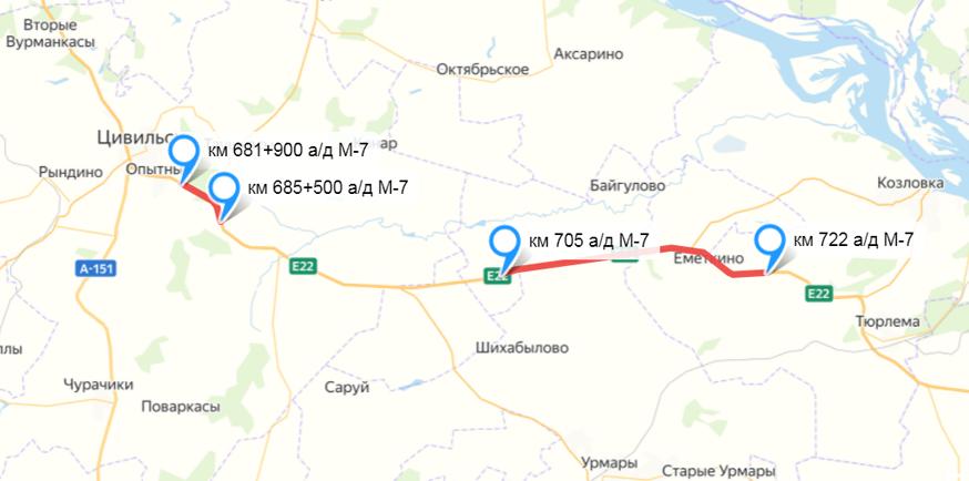 Дорожные работы: на бесплатном дублёре будущей трассы М-12 от Москвы до Казани пройдёт ремонт