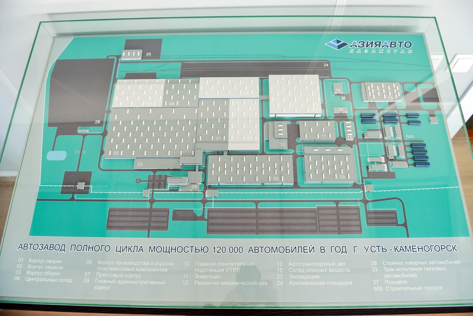 На фото: план строящегося завода