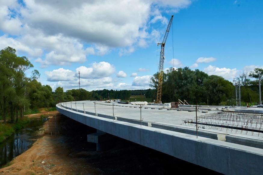Новую развязку на пересечении ЦКАД и трассы М-7 «Волга» откроют до конца года