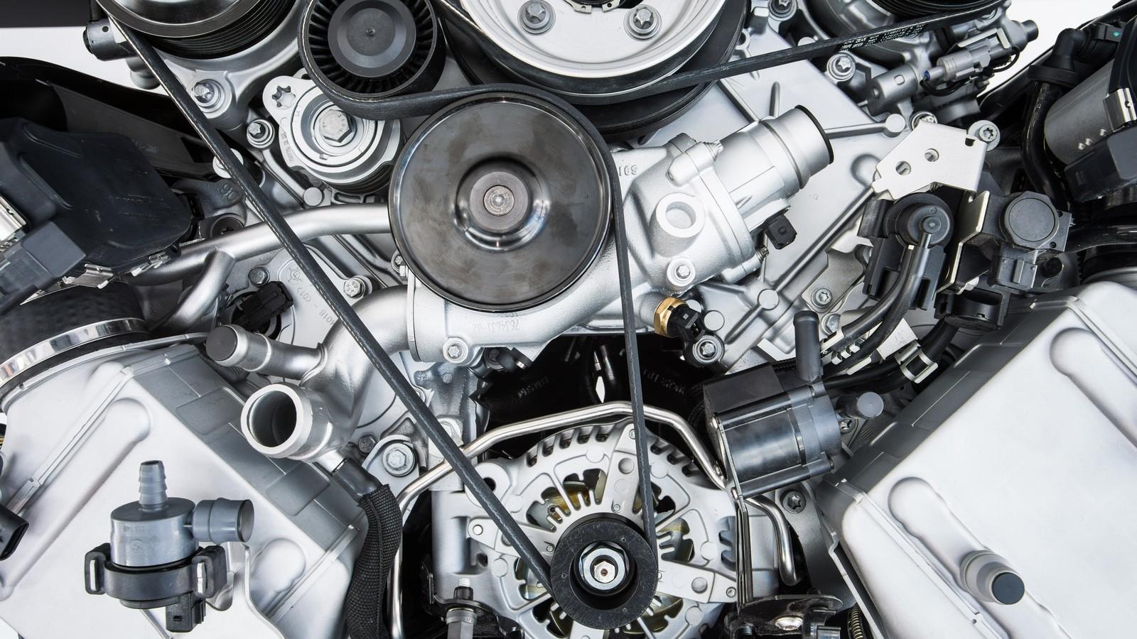 Car Engine — Modern powerful car engine(motor unit — clean and s