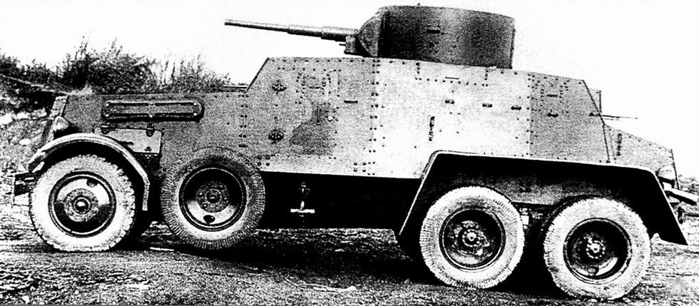 Первый советский тяжелый бронеавтомобиль БА-5 на шасси ЗИС-6
