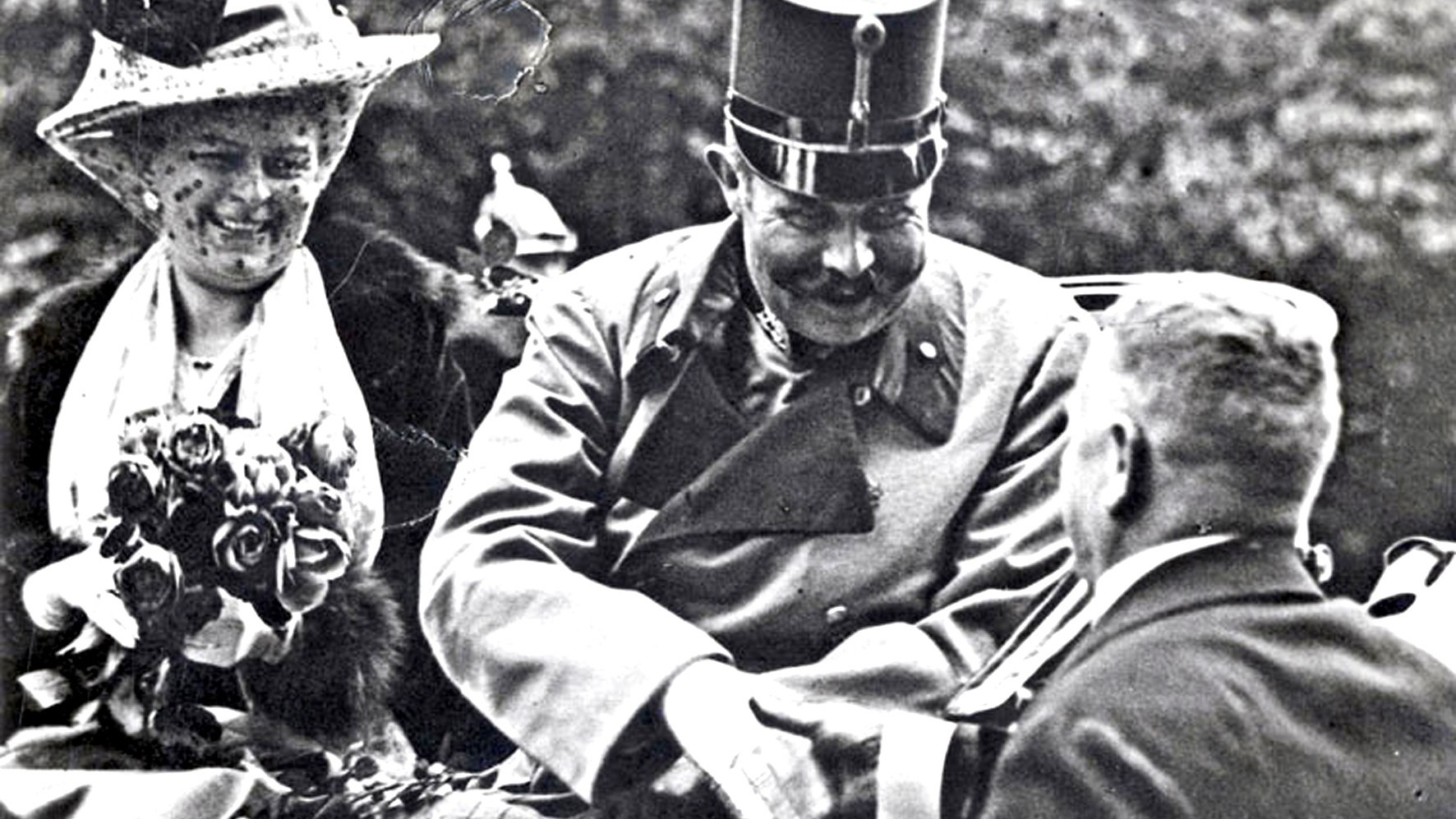 Встреча эрцгерцога Франца Фердинанда и его жены Софии Хотек