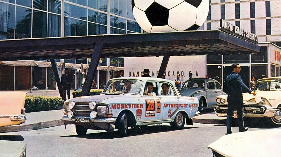 Москвич-412 в ралли Лондон-Мехико '1970