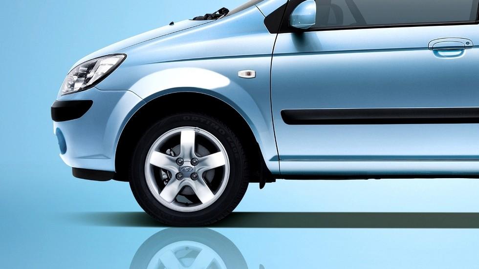 Hyundai Getz голубой тормоза
