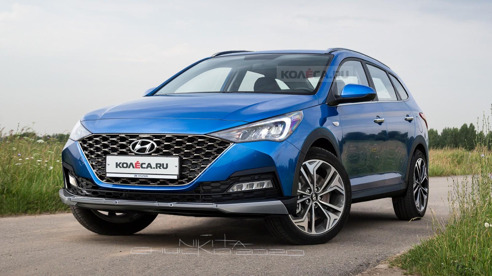 Новый универсал Hyundai Solaris и его кросс-версия: какими они могут быть