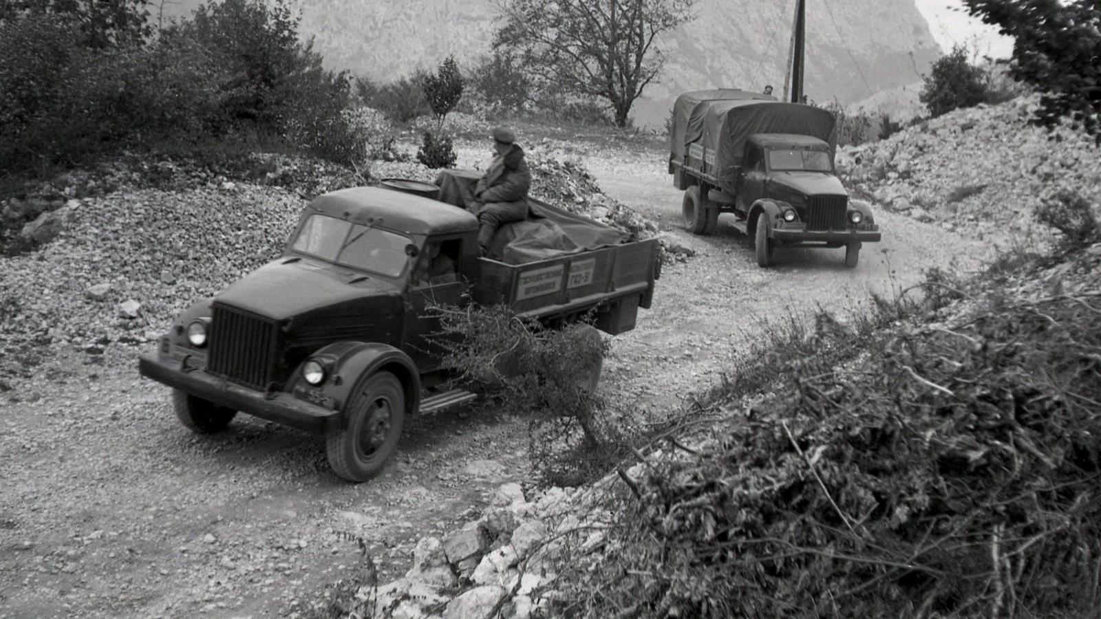 ГАЗ-51, 46 год, Гос. испытания. Автопробег на Байдарском перевале в Крыму.