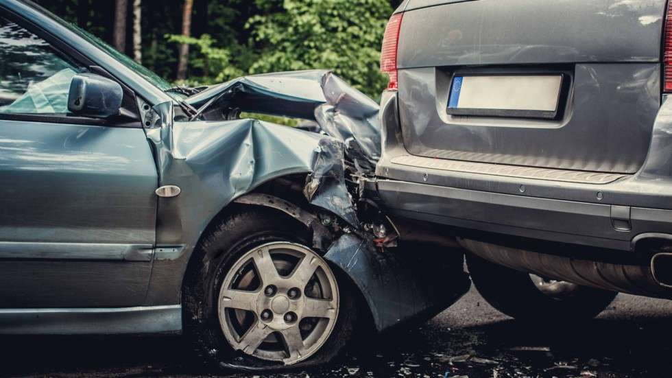 Car accident on the street.