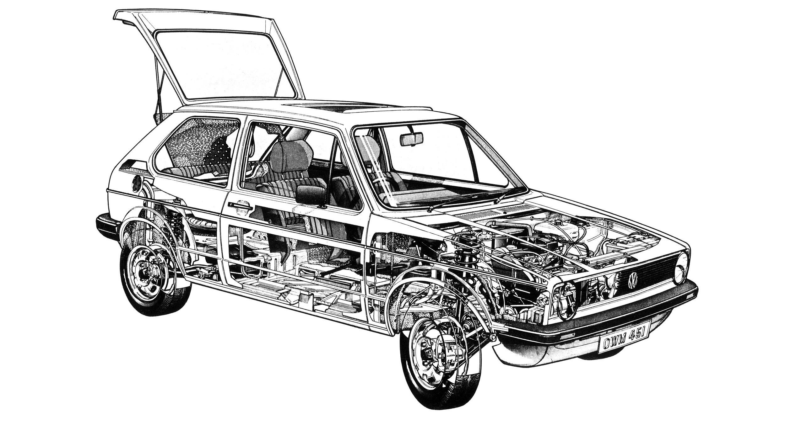 На фото: Volkswagen Golf '1974–83