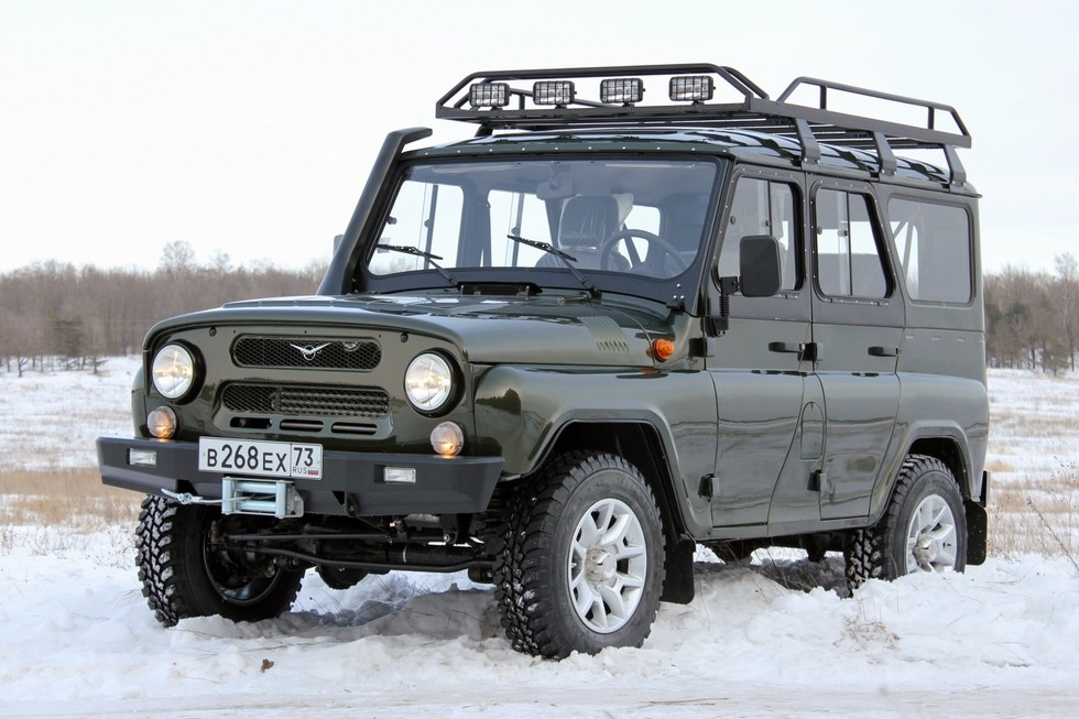 СимбАТ UAZ Hunter Off-road Line '2014–н.в. в снегу