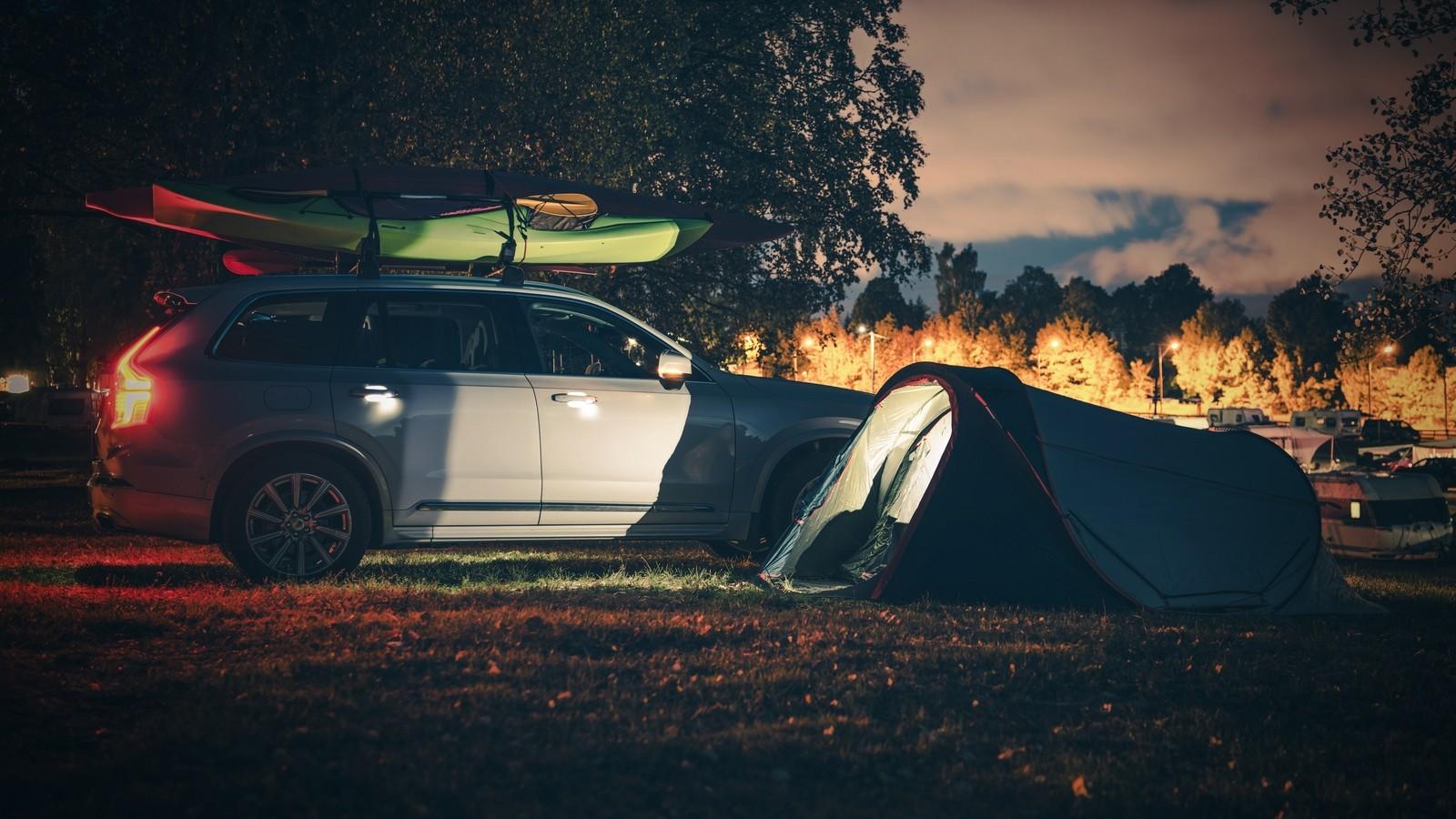Kayaking Camp at Night