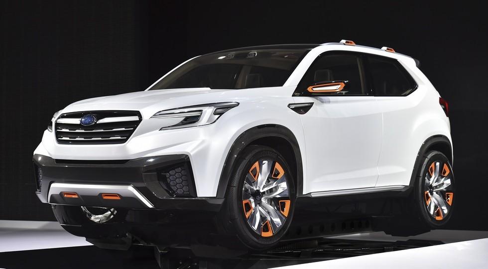 На фото: концепт Subaru VIZIV Future. Ожидается, что в стиле этого прототипа выполнят дизайн преемника Tribeca