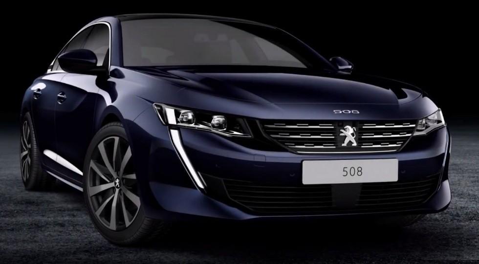 На фото: стандартный Peugeot 508 нового поколения