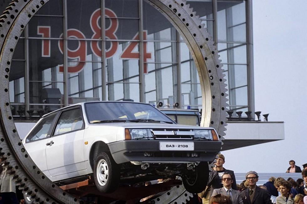Первый ВАЗ-2108 на ВДНХ в 1984 году