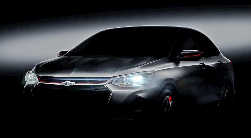 Осветленный тизер предназначенного для Китая Chevrolet Onix Redline