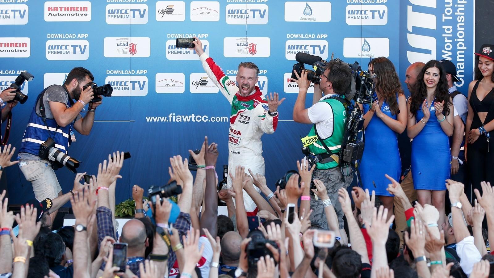 Победителем главной гонки стал местный герой Тьяго Монтейро