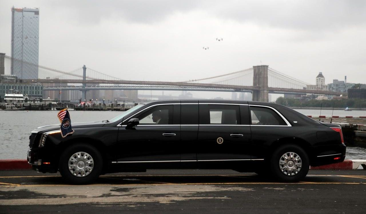 FILE PHOTO: U.S. President Donald Trump's new Cadillac limousine nicknamed
