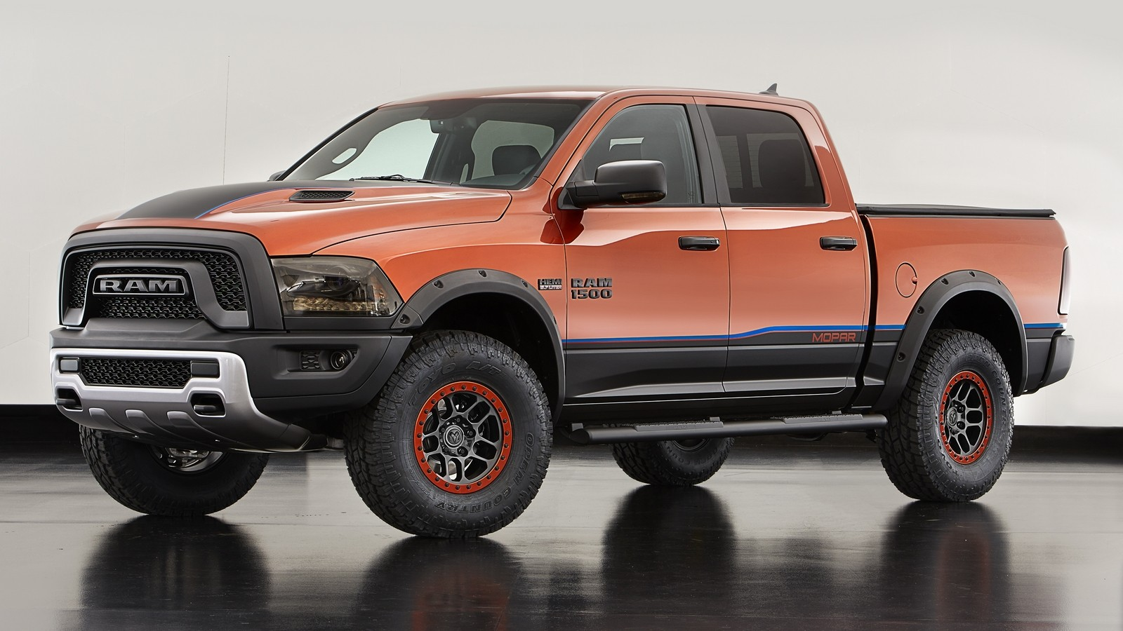 The Ram Rebel X is among the Mopar-modified vehicles showcased a