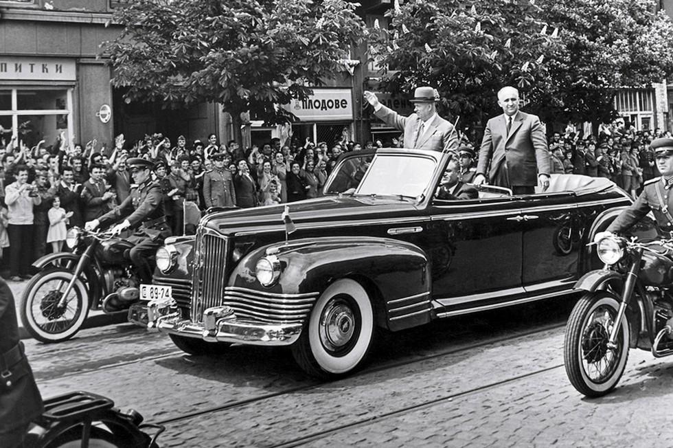 ЗИС-110Б 1956 год Н.С. Хрущёв и Иосип Броз Тито