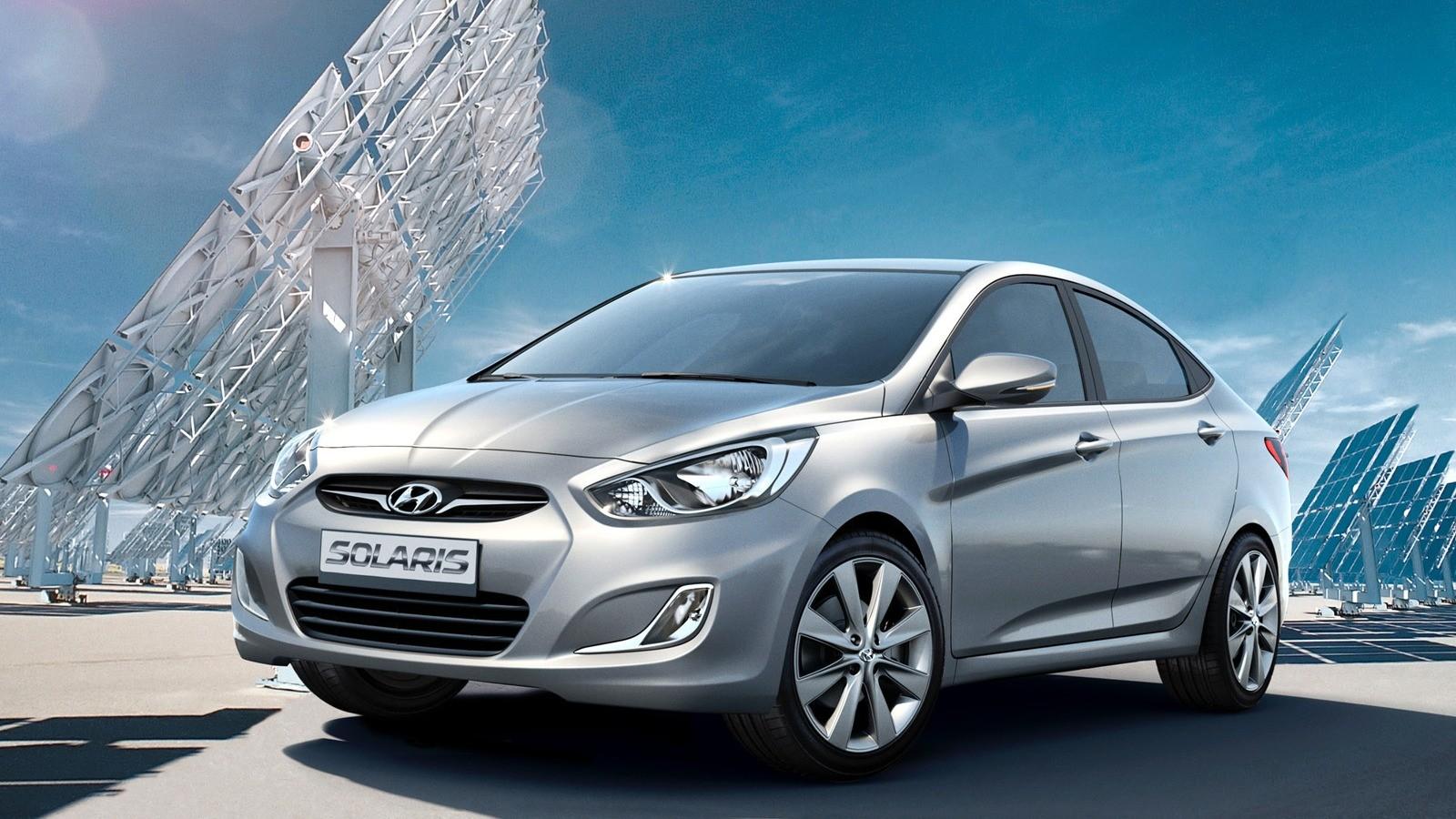 Hyundai Solaris '12.2010–14 три четверти