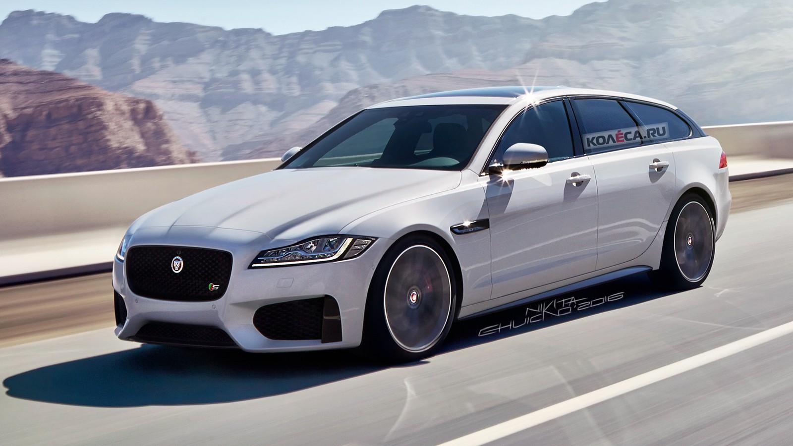 Jaguar XF wagon front