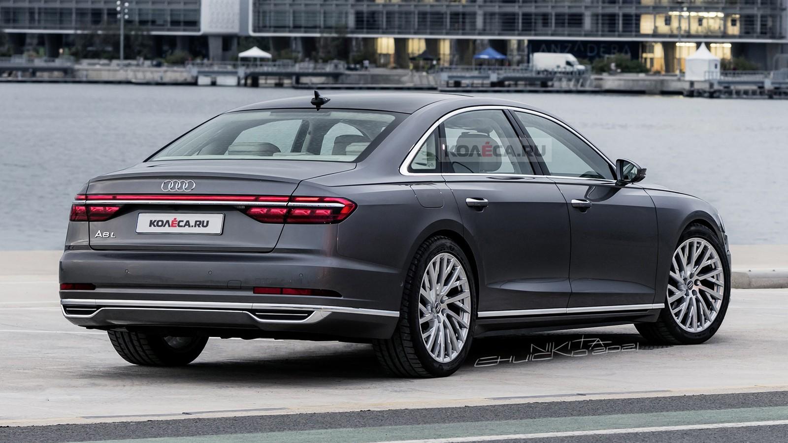 Обновлённая Audi A8: первые изображения