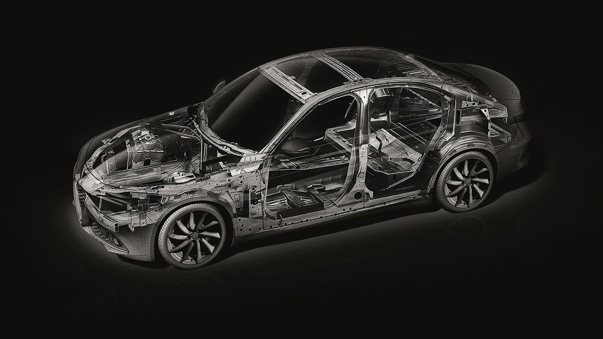 Alfa Romeo Giulia структура кузова