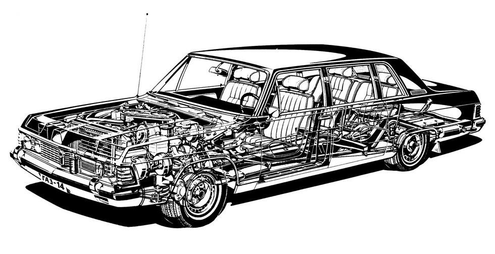 Чайка ГАЗ-14 схема