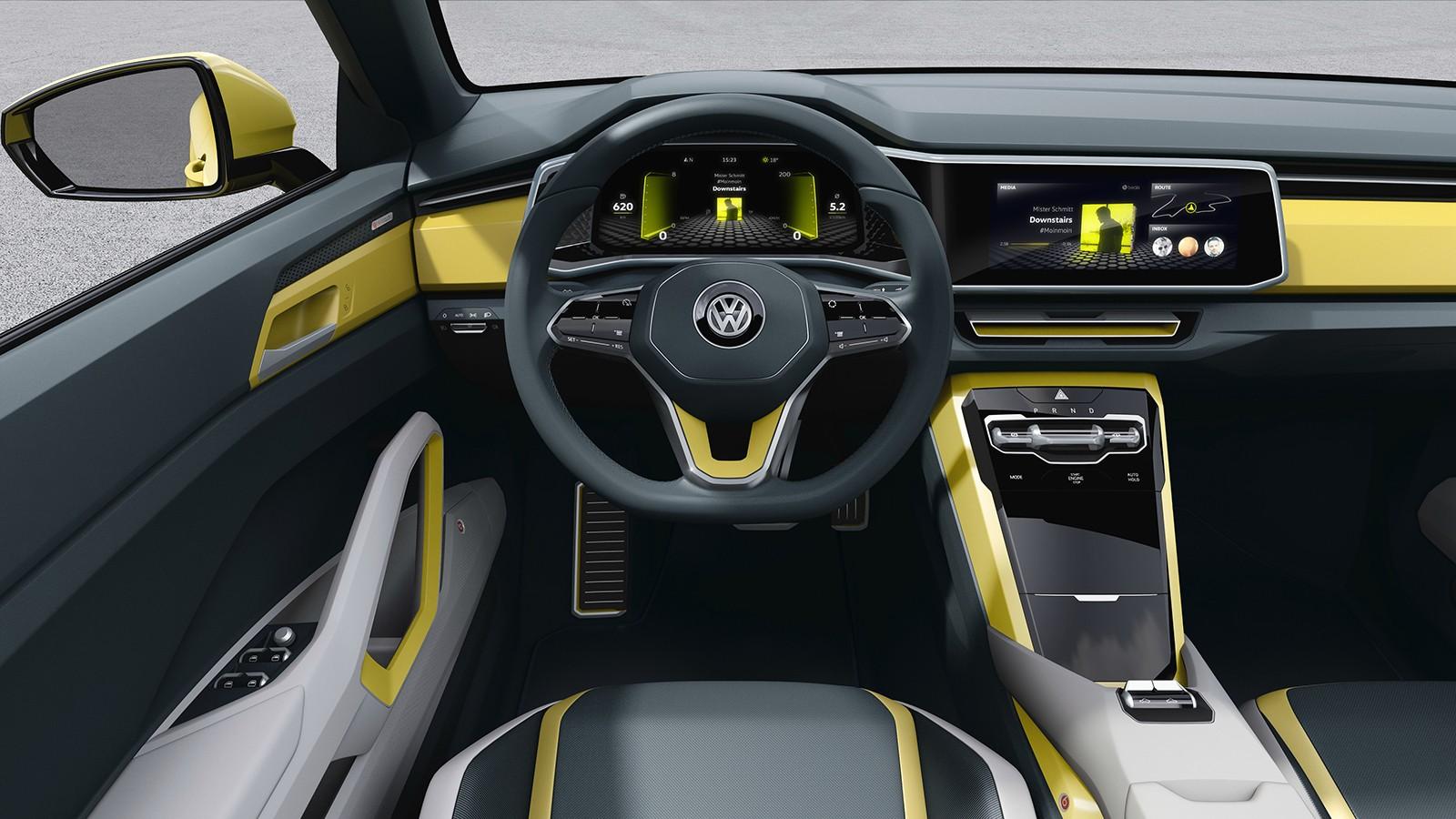 На фото: салон VW T-Cross Breeze Concept