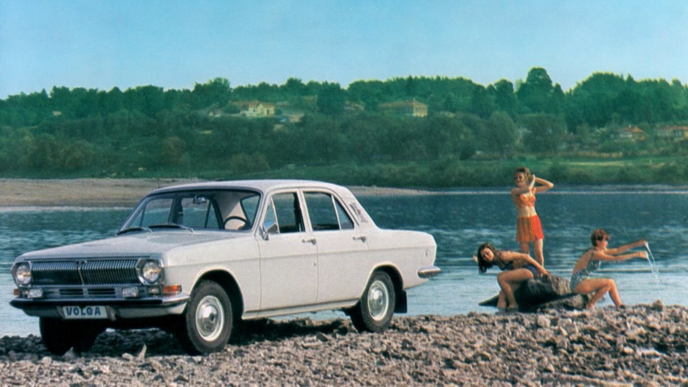ГАЗ 21 Волга на пляже