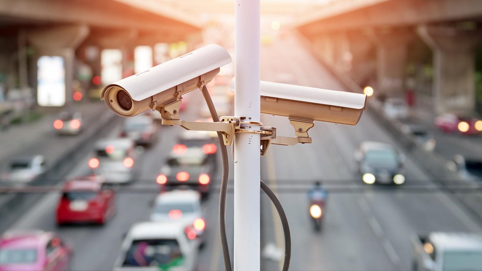 traffic security camera.