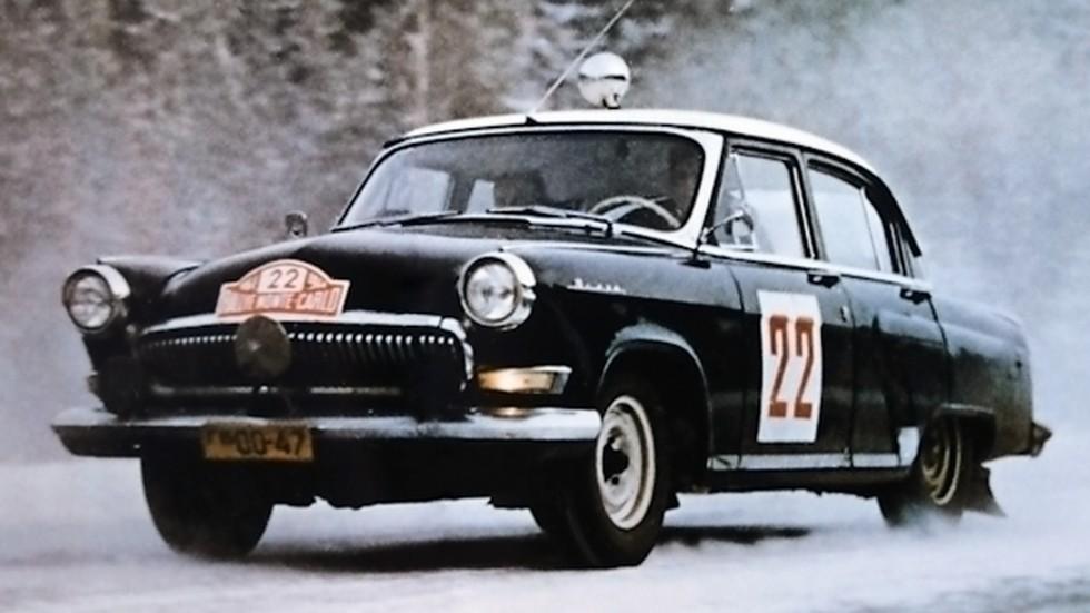 На фото: ГАЗ 21 Волга в ралли Monte-Carlo 1964