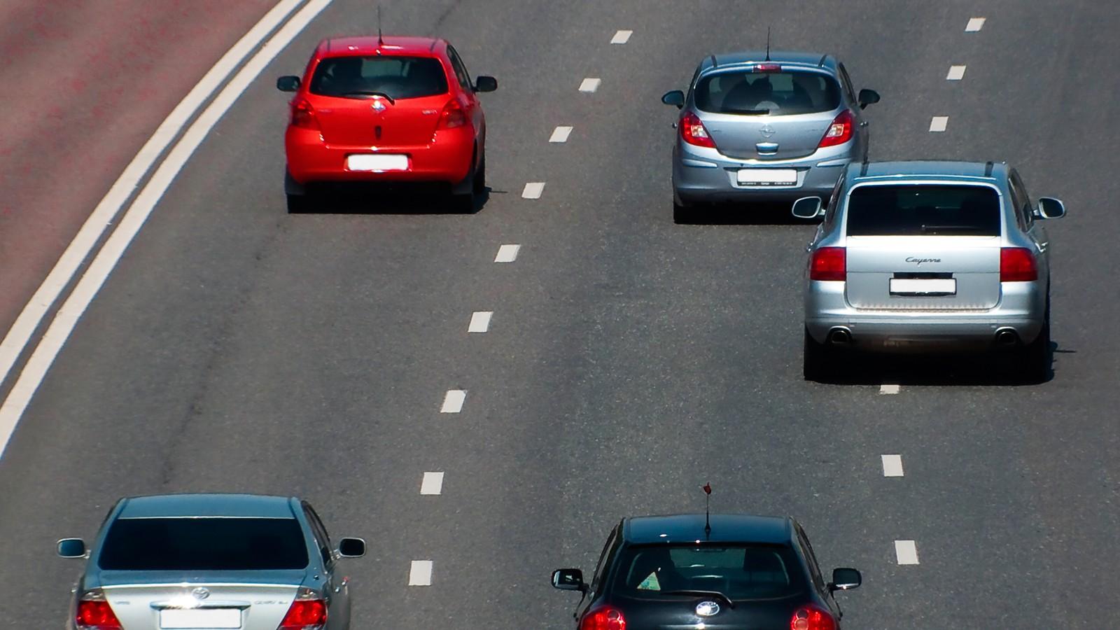 Highway car road