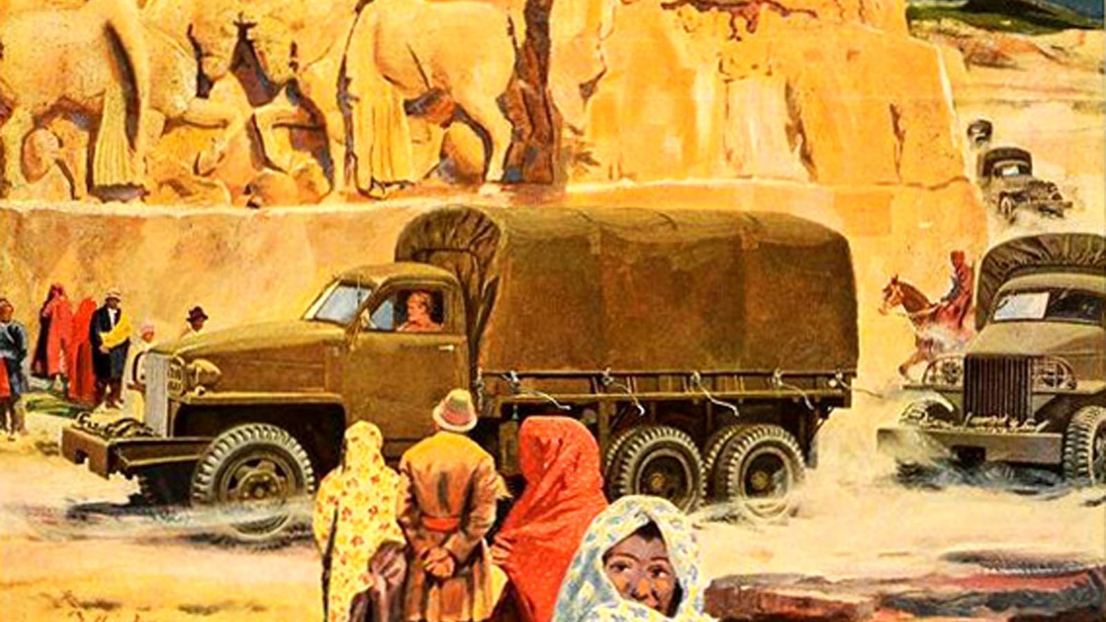 Эта картинка, видимо, посвящена машинам Studebaker, поступавшим в Китай