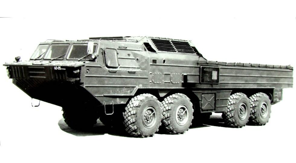 Корпусное 14-тонное шасси БАЗ-6948 для ТЗМ комплекса «Ока-У». 1987 год