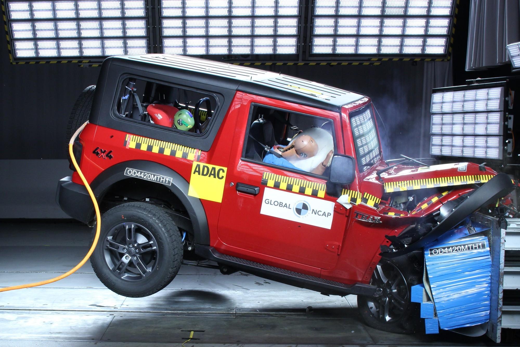 Mahindra Thar на испытаниях Global NCAP: риск травмирования ног и жуткая управляемость